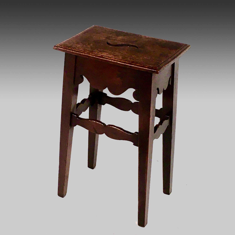 Georgian oak stool